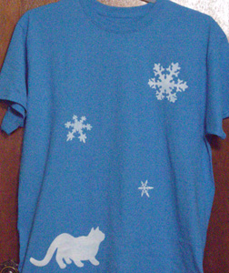 Cat and Snowflakes Shirt